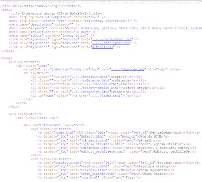 webdesign html